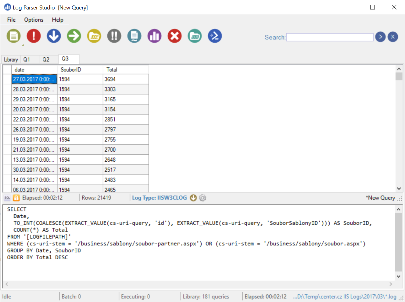 Tip: Microsoft LogParser [Studio] superfast SQL-like querying of any